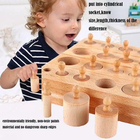 Montessori Materials Montessori Toys Educational Games Cylinder Socket Blocks - image 7 de 7