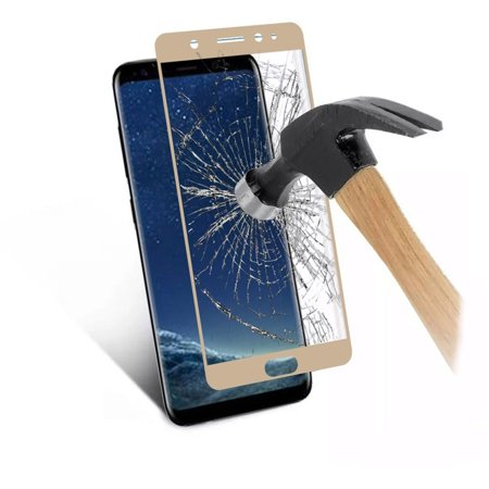 Samsung Galaxy S8 Screen Protector, by Insten Clear Tempered Glass Screen Protector LCD Film Guard Shield for Samsung Galaxy S8, Gold - image 2 of 2