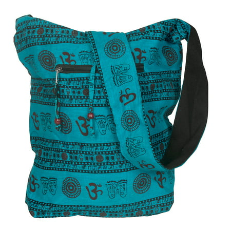 Blue Handmade Crossbody Large Hobo Shoulder Bag Hippie Boho Fashion Everyday Unique