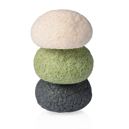 Pretty See Facial Sponge Cleansing Puff Soft Touch Sponges for All Skin Types, 3 Pcs