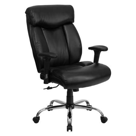 Flash Furniture Hercules Series Big and Tall Fabric or Leather Office Chair with Arms