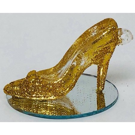 high heel shoe gold glitter party favor all occasion