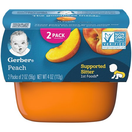 Gerber 1st Foods Peach Baby Food, 4 oz. Sleeve (Pack of (Feeding Baby Food For The First Time)