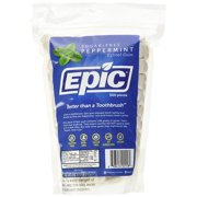 Epic 100% Xylitol-Sweetened Chewing Gum, Peppermint Flavor, 500-Count Bulk Bag