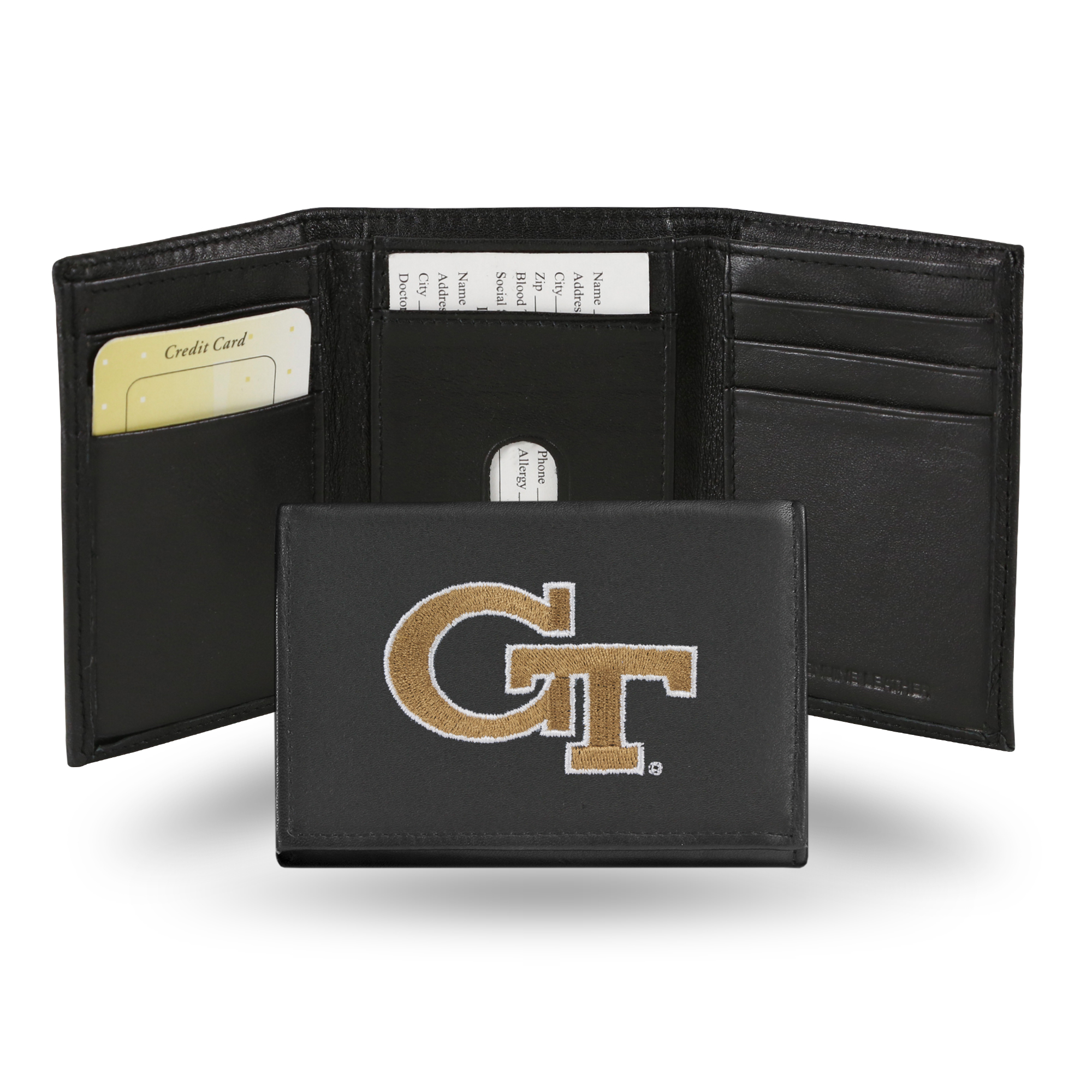 NCAA - Men's Georgia Tech Yellow Jackets Embroidered Trifold Wallet