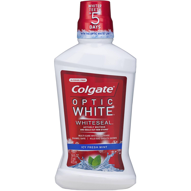 Colgate Optic White Whiteseal Mouthwash, 16 fl oz