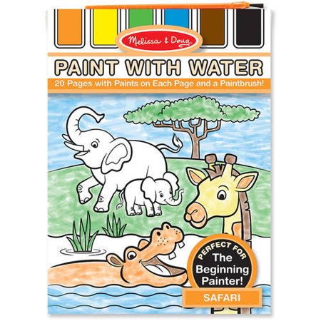Melissa & Doug My First Paint with Water Coloring Book: Animals, 24 ...