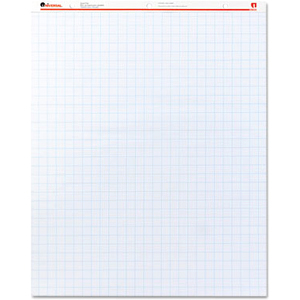 Universal Recycled Easel Pads, Quadrille Rule, 27 x 34, White, 50 Sheet 2/Ctn