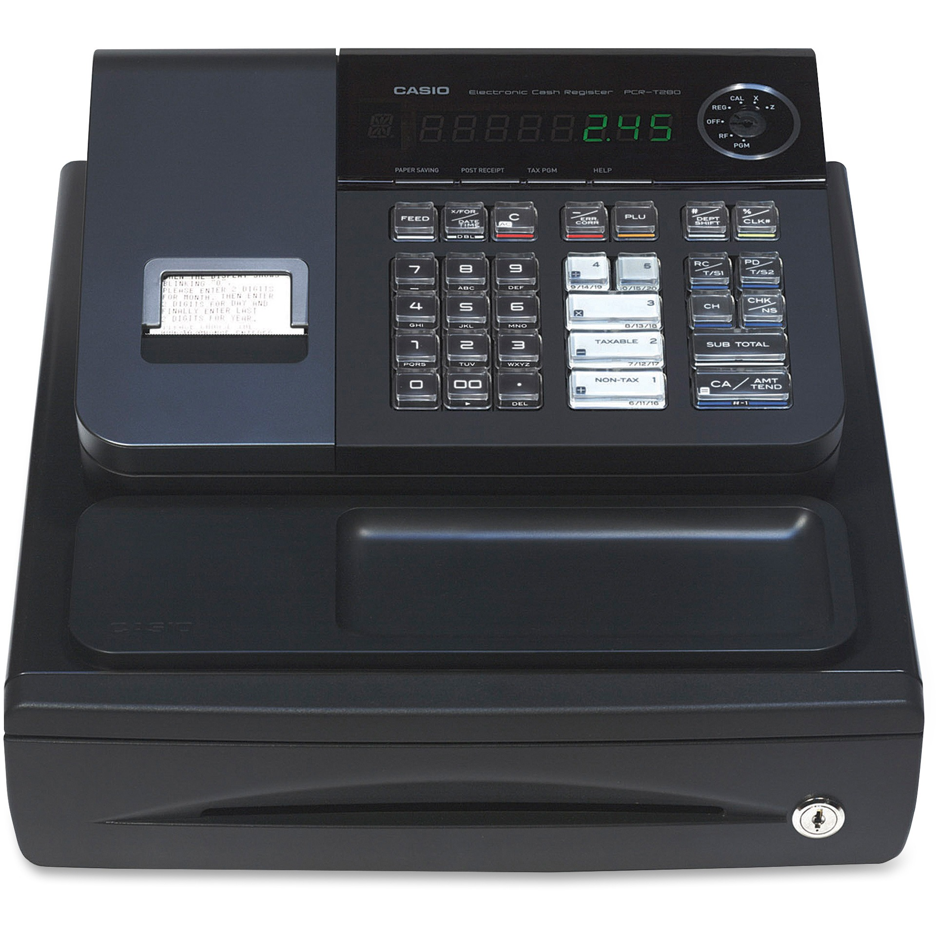 Casio PCR-T280 Cash Register-Stylish Black Color