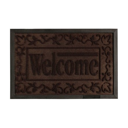 Engraved Design (Attraction Design Rubber Backed Rug Welcome Engraved Doormat, Ship from US )