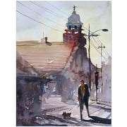 "Trademark Art ""Morning Stroll in Steven's Point"" Canvas Art by Ryan Radke"