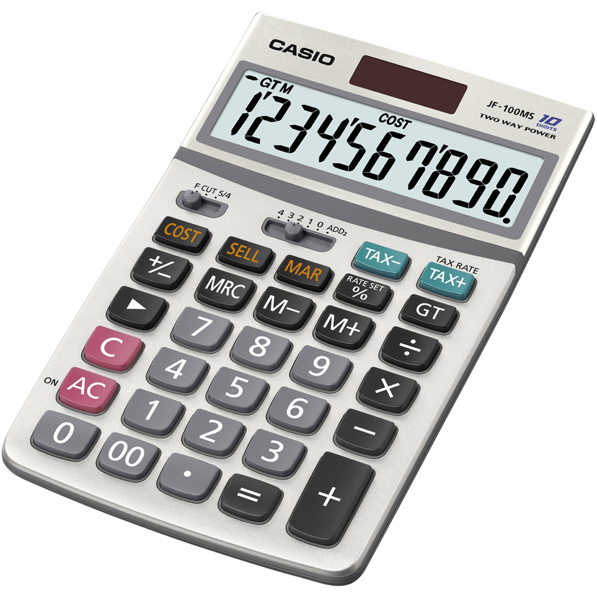 Casio JF-100MS 10-Digit Desktop Calculator