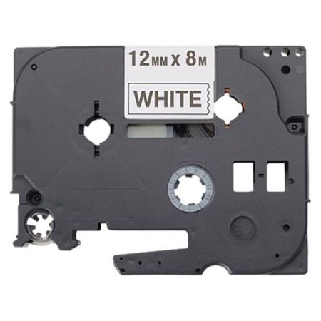 Frère Hges2315pk Black On White Label adhésif extra-fort Ruban - 0,47 Largeur X 26,25 Ft Lengt - image 1 de 1