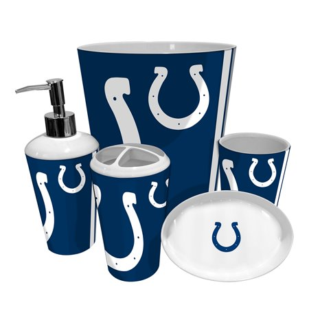 Indianapolis colts nfl complete bathroom accessories 5pc for Entire bathroom sets