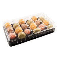 Macaron Box, Macaron To Go Packaging / Container - Holds 36 Macarons - Shock Safe for Transport - 100ct Box