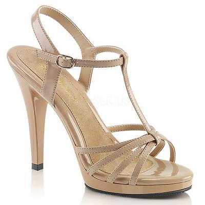 "FLA420/ND/M Nude Pat/Nude Fabulicious Shoes 4 1/2"" Flair Size: 6"