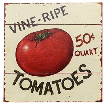 Vintage Vine (Barnyard Designs Vine Ripe Tomatoes Retro Vintage Tin Bar Sign Country Home Decor 11