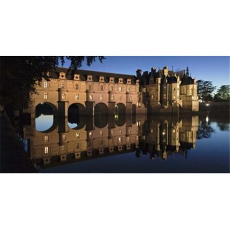 Reflection of a castle in a river  Chateau De Chenonceau  Indre-Et-Loire  Loire Valley  Loire River  Region Centre  France Poster Print by  - 36 (Valley River Center)