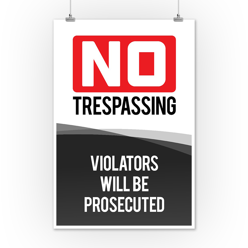 photo about Printable No Trespassing Sign named No Tresping Signal - Lantern Push Art (12x18 Artwork Print, Wall Decor Push Poster)