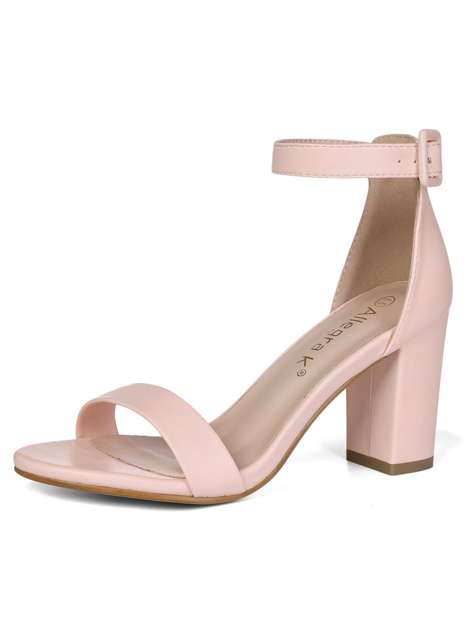 ad69b85f6727 Unique Bargains Women s Chunky High Heeled Open Toe Ankle ...