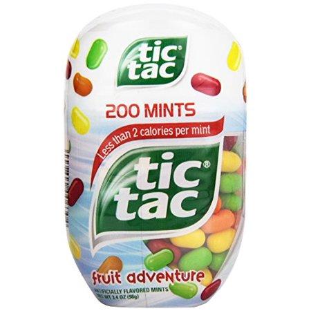 6 Pack - Tic Tac Fruit Adventure Mints 200 count 3.4 oz Each (Blue Tic Tacs)