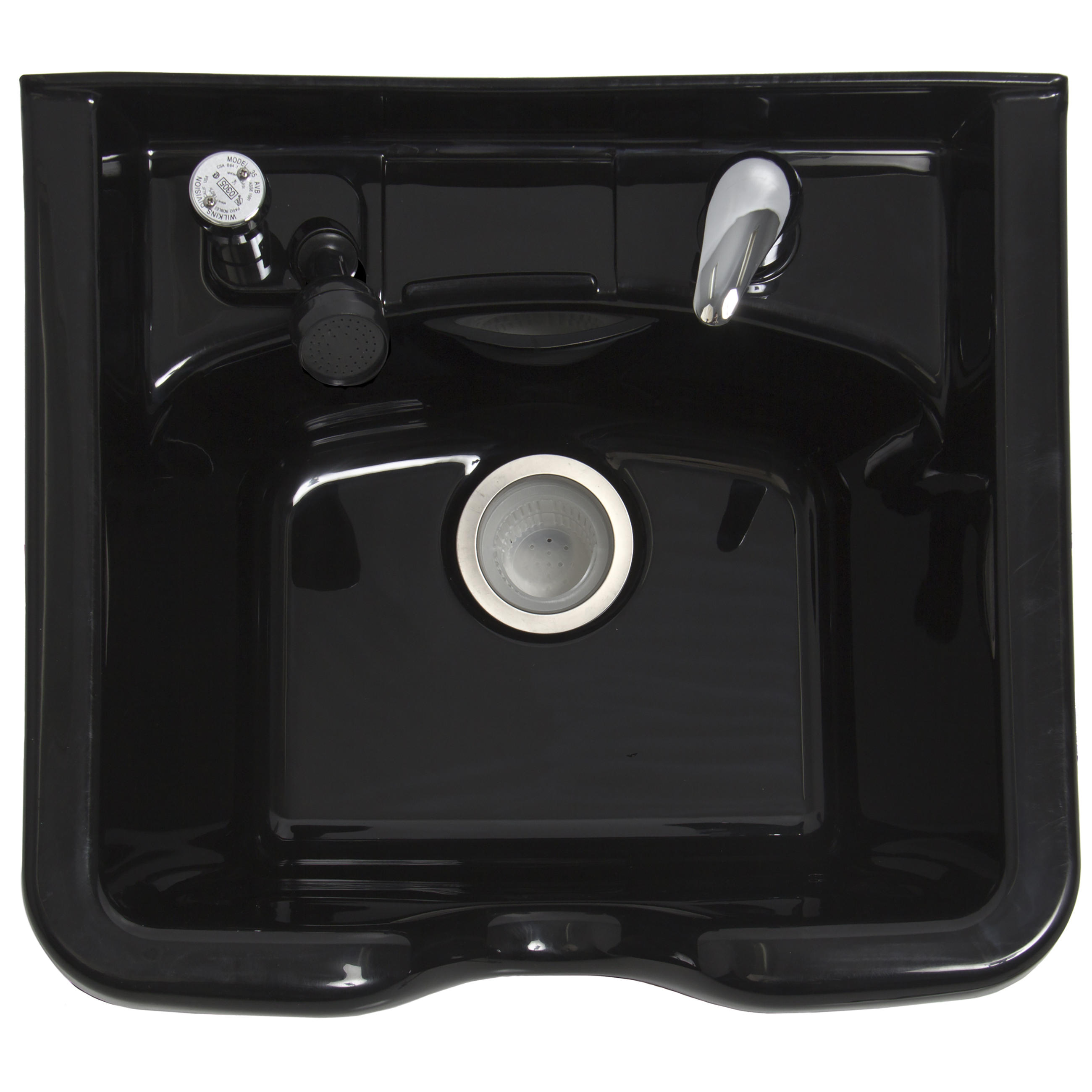 Shampoo Bowl Beauty Salon ABS Plastic Sink Bowl Barber Shop Mounting ...