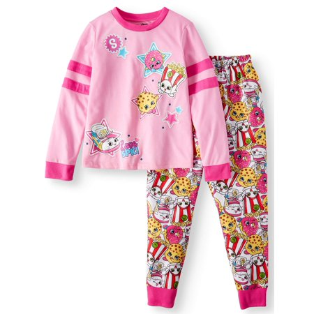 Shopkins Girls' Poly 2-Piece Pajama Sleep Set