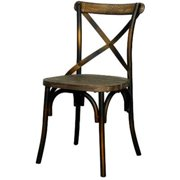 New Pacific Direct 938235-DC Natalie KD Metal Chair, Distressed Copper
