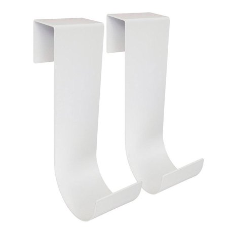 Mide Products Long Fence Mount Hook 10 in. L Aluminum White 25 lb. 2 pk