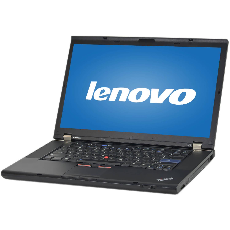 "Refurbished Lenovo Black 15.6"" ThinkPad T510 Laptop PC with Intel Core i5-520M Processor, 4GB Memory,... by Lenovo"