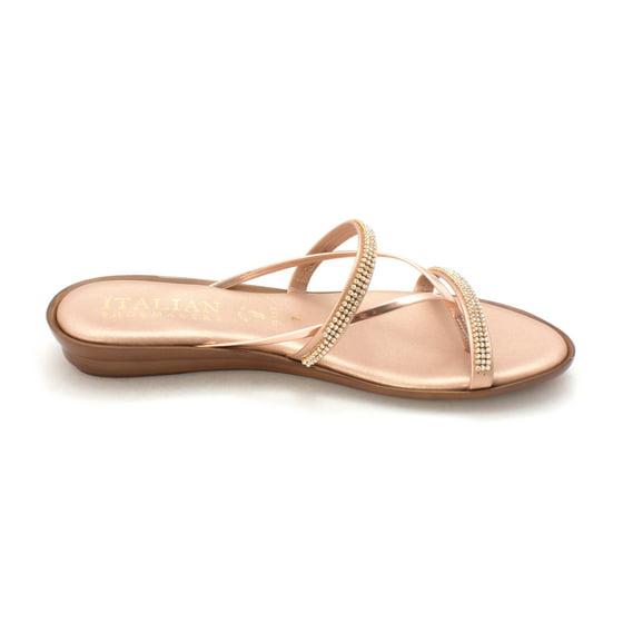 ae13ea65ad Italian Shoemakers - Womens 4046V8 Jewel Wedge Open Toe Casual Slide ...