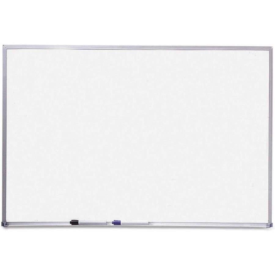 "Quartet Dry Erase Board, Melamine Surface, 24"" x 18"", Silver Aluminum Frame"