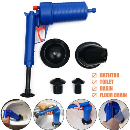 High Pressure Air Power Pump Drain Bla ster Toilet Plunger Sink Pipe Clog Remover + 4 (Best Toilet That Won T Clog)