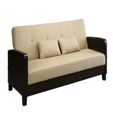 Astounding Dhp Vienna Sofa Sleeper With 2 Pillows Chocolate Brown And Short Links Chair Design For Home Short Linksinfo