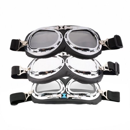 Hot Anti-UV Safety Motorcycle Scooter Pilot Goggles Helmet Glasses Motocross - image 2 of 9