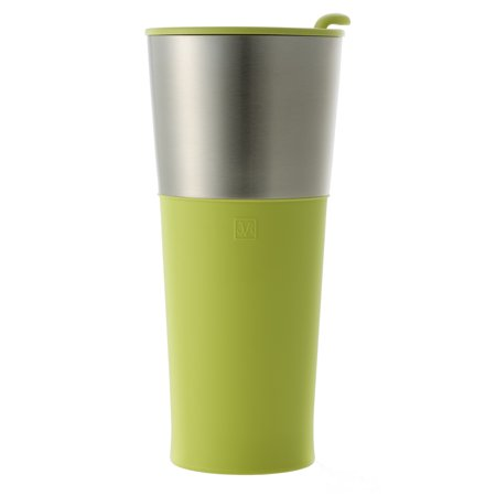 086baac71c3b JVR Stainless Steel Insulated Basic Tumbler | 16-oz Double Wall Vacuum  Insulated Travel Mug for Tea, Coffee, Beer | Reusable Coffee Mug with Lid |  Sweat ...
