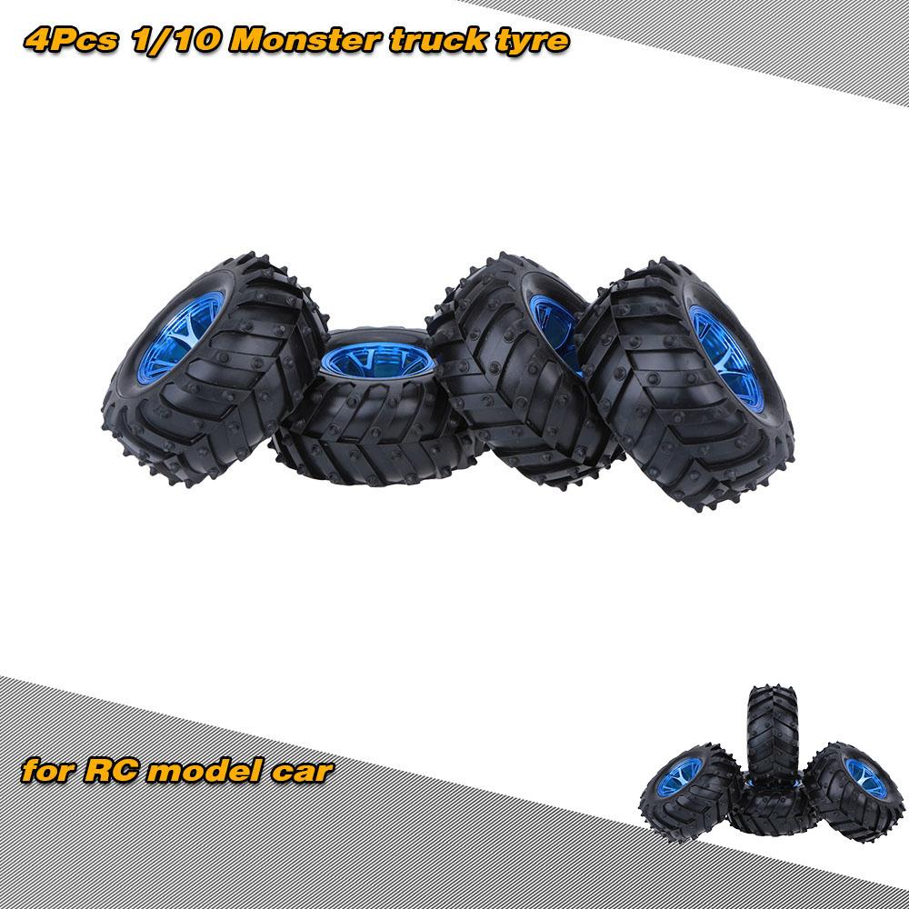 4PCS Rubber Tyre Tires Kforce BBNK for HSP HPI RC 1:10 Model Off Road Car