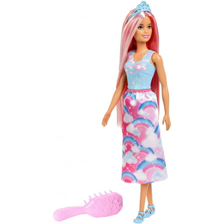 Punk Disney Princesses (Barbie Dreamtopia Princess Doll with Long Pink Hair &)