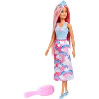 Barbie Dreamtopia Princess Doll with Long Pink Hair & Hairbrush