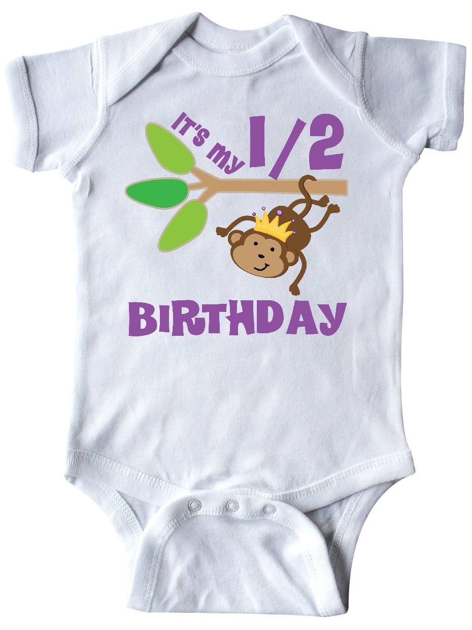 inktastic Cute Baby Girl with Birthday Presents Infant Creeper