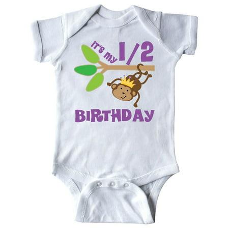 Half Birthday 6 Months Baby Monkey Infant Creeper