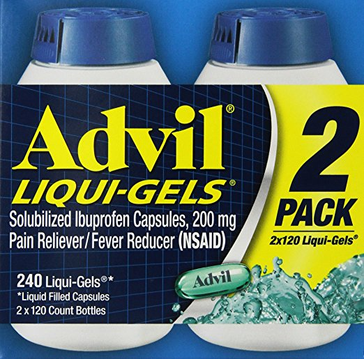 Advil Liqui-Gels Liquid Filled Capsules, 240 Ct
