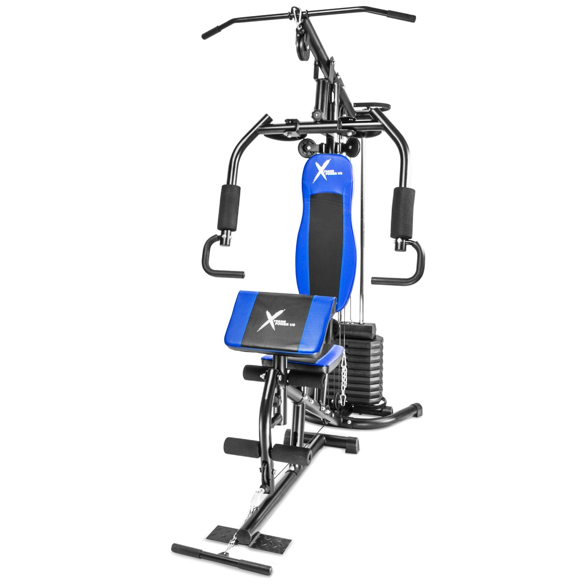 XtremepowerUS Deluxe Home Gym Fitness Exercise Workout Machine Weight Stack