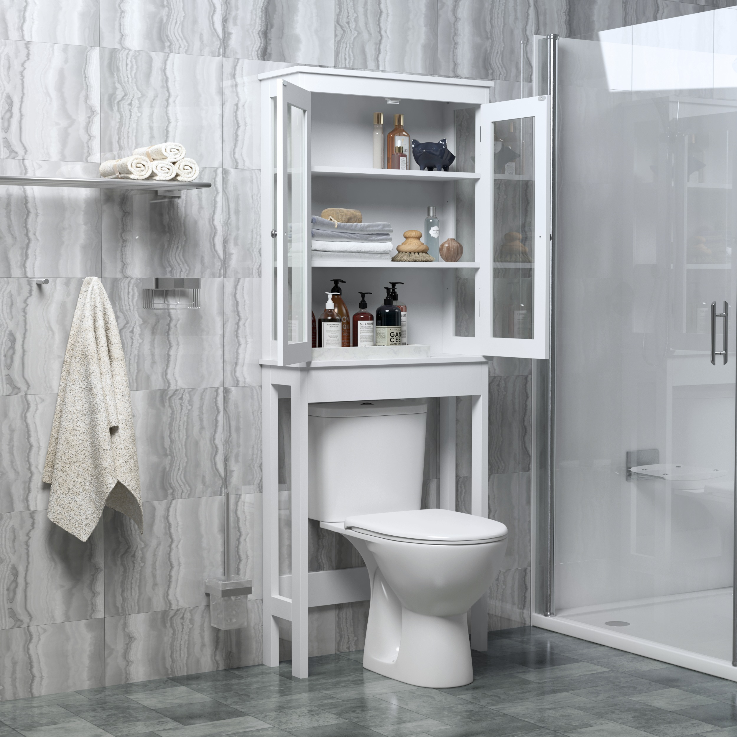 Bathroom Cabinet Storage Cabinet Wall Cabinet, Over the ...