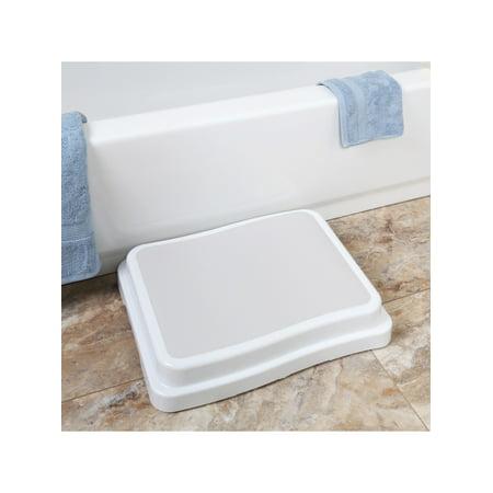 Support Plus Stackable Bath Steps - Slip-Resistant Safety Step Stools Platform for Bathroom and Household Use - Set of