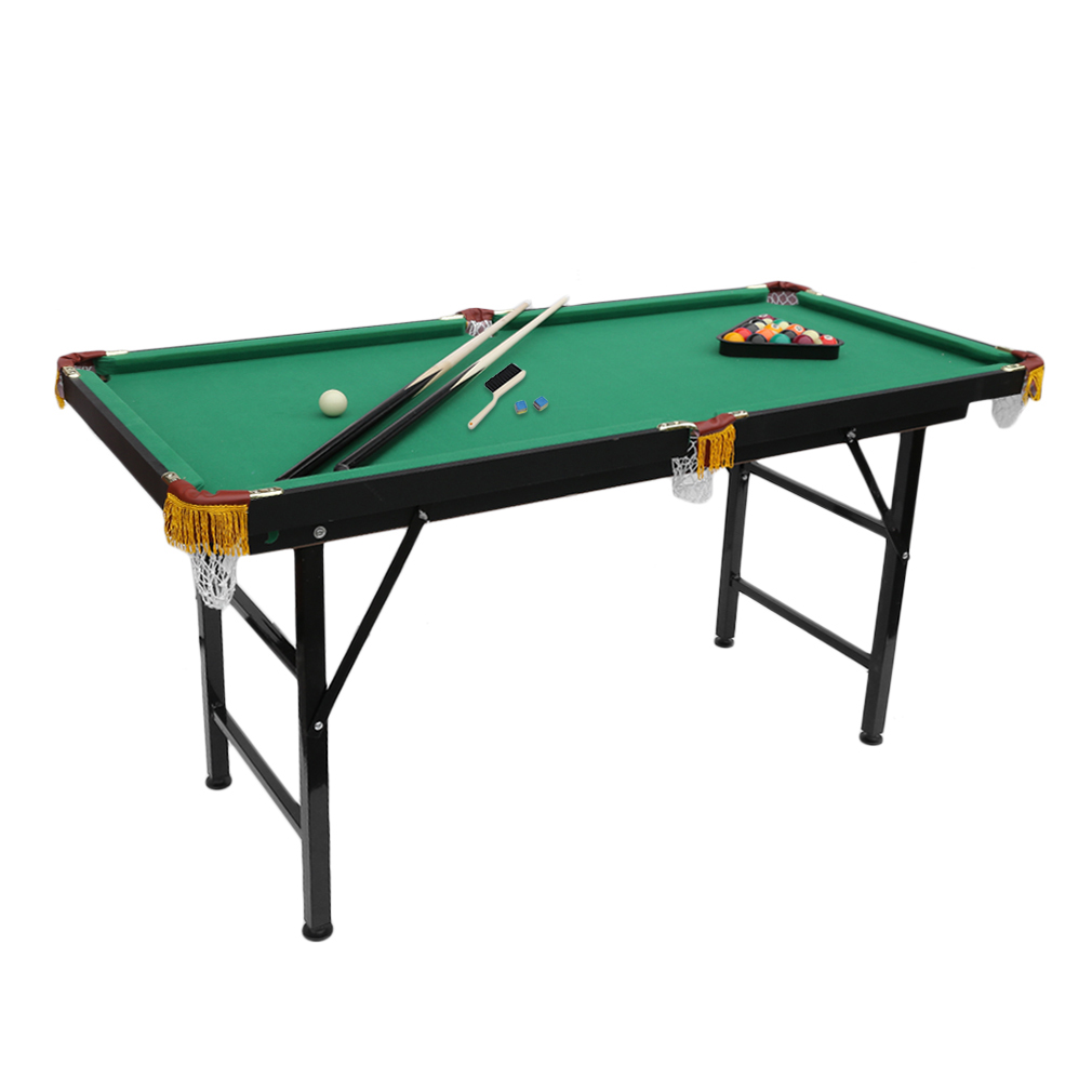 Folding Mini Outdoot 4.7' billiard table Pool Table with Green Cloth for Adults on Sale by