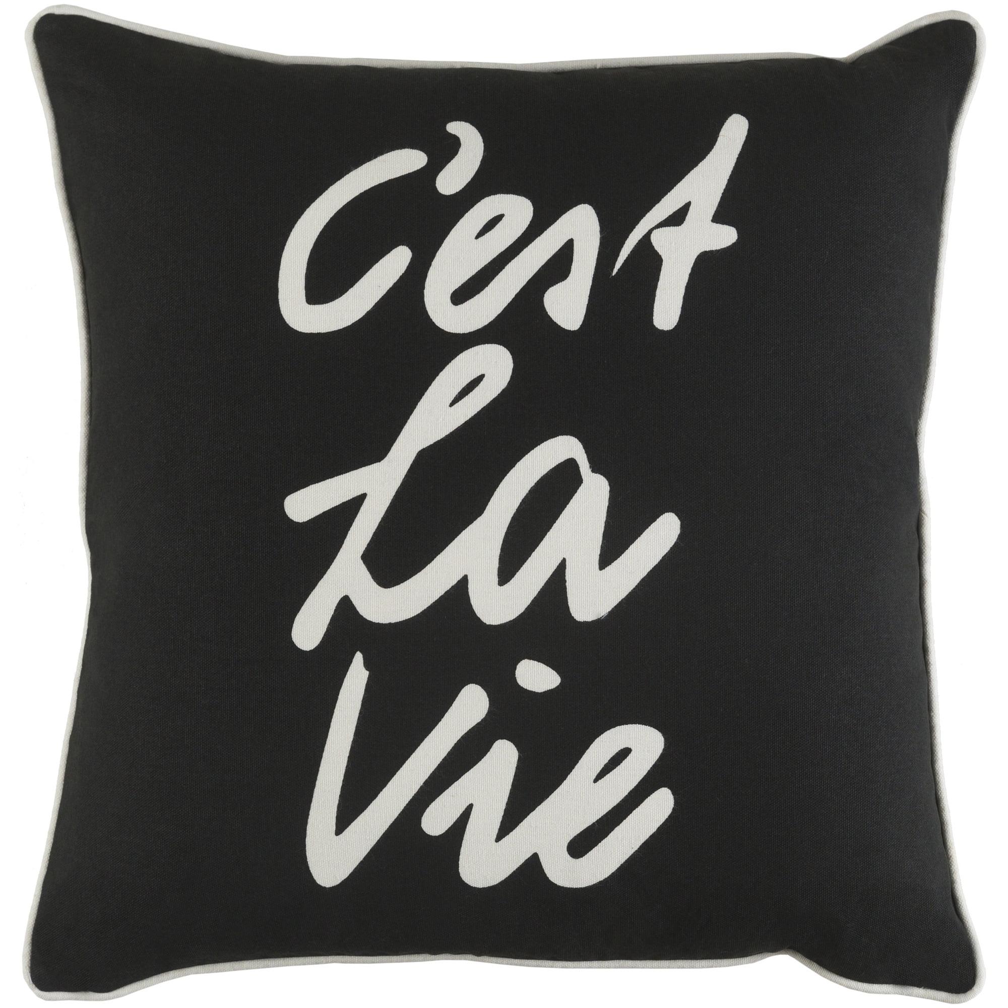 """Artistic Weavers Glyph C'est La Vie 18"""" x 18"""" Pillow Cover"""