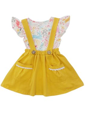 Toddler Girls Easter Dress or Toddler Girl Suspender & Skirt 2 Piece Boutique Outfit So Sydney