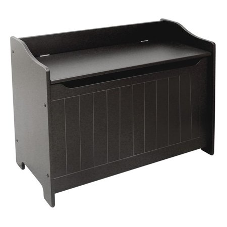 Cool Pemberly Row Wooden Storage Bench In Black Caraccident5 Cool Chair Designs And Ideas Caraccident5Info