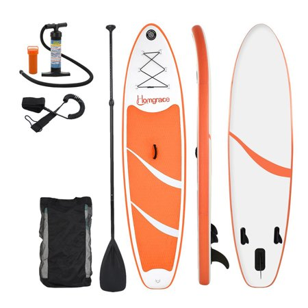 Top Knobs Inflatable SUP Stand Up Paddle Board, Complete KIT: Board, Fin, Pump, Paddle, Carry Bag